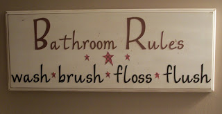 My Weekend Project – Bathroom Rules Sign