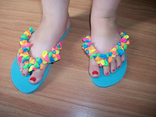 Balloon Decorated Flip Flops