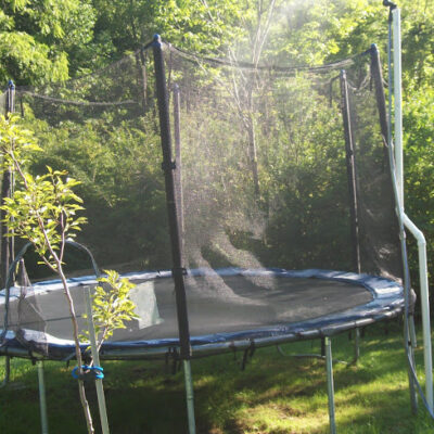 Trampoline Sprinkler Fun and Tutorial