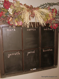 Shabby Window Turned Chalkboard
