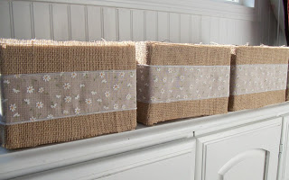 Burlap Covered Boxes