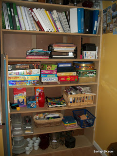 Organizing the Book, Game, and School Shelves