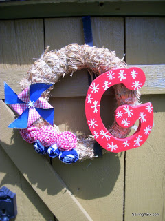 Patriotic Porch, Pinwheels, and Wreath
