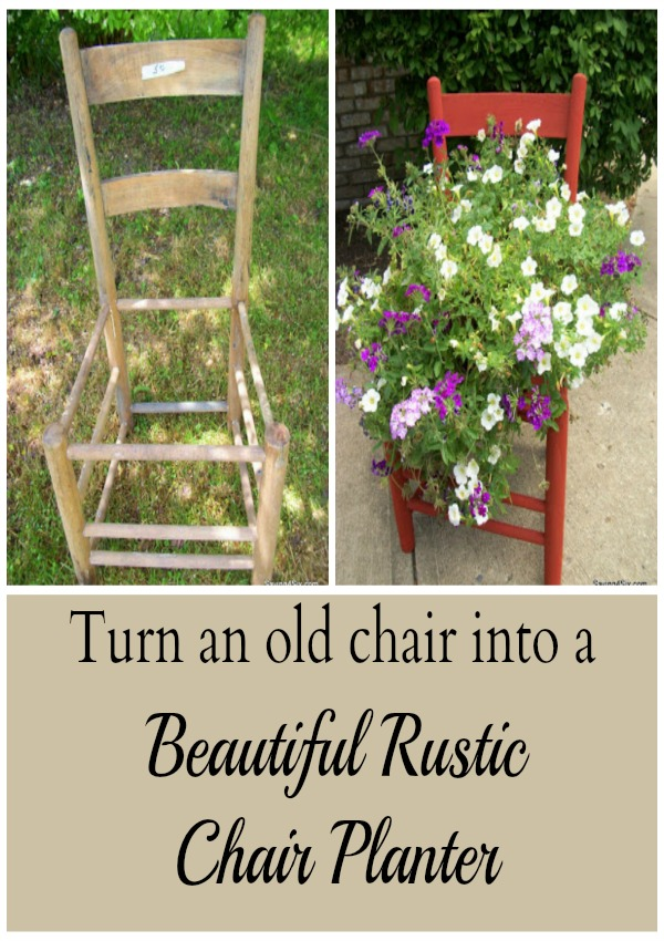 Rustic Chair Planter