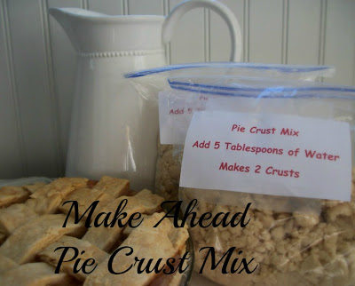 Make Ahead Pie Crust Mix