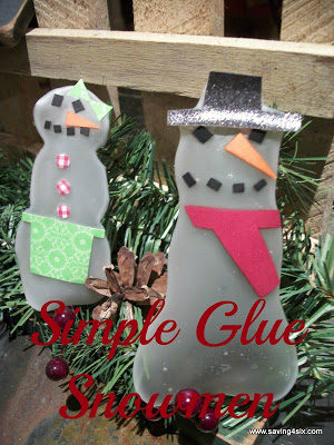 Easy Glue Snowman Craft for the Kids