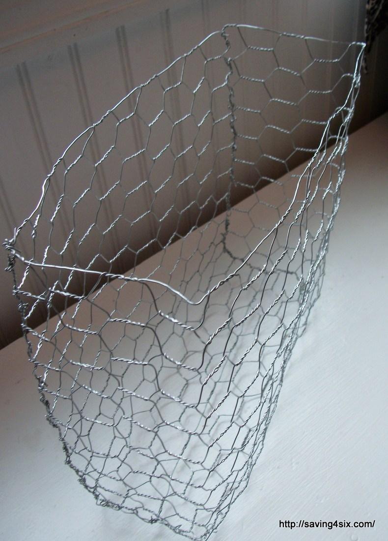 DIY Chicken Wire Magazine Baskets