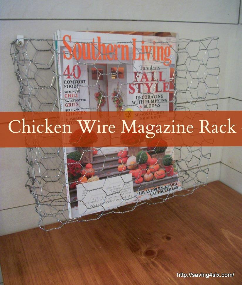 chicken wire magazine rack