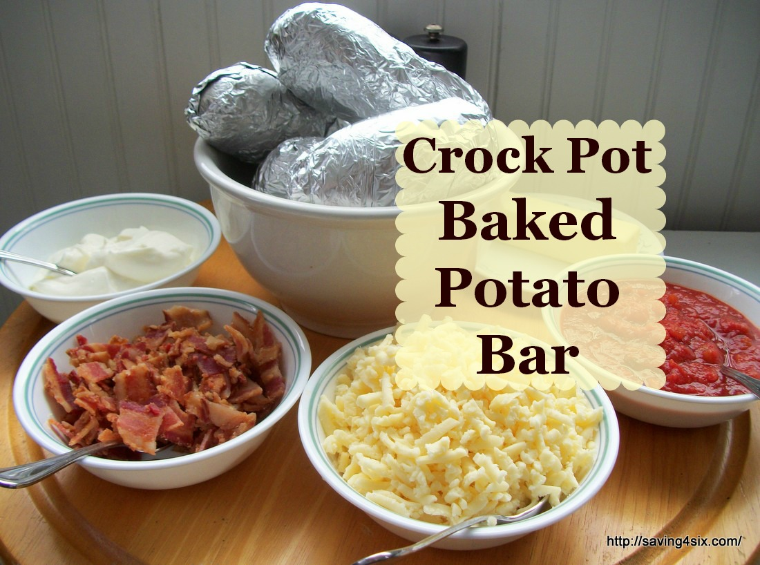 ... to turn my baked potatoes into a meal by making a Baked Potato Bar