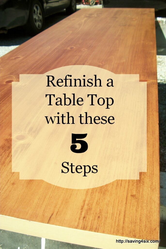 Refinish a table top