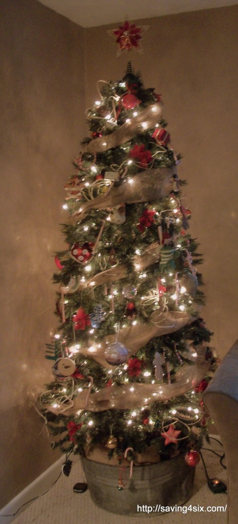 Washtub Christmas Tree Base