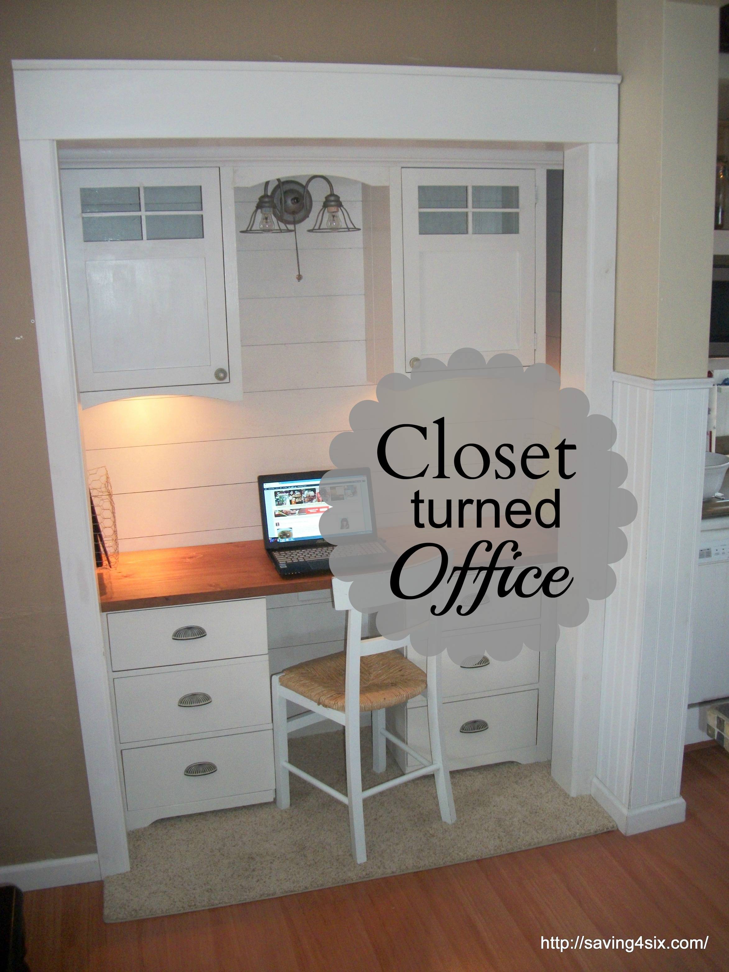 Closet Office Makeover