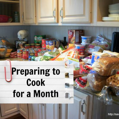 Preparing To Cook For A Month