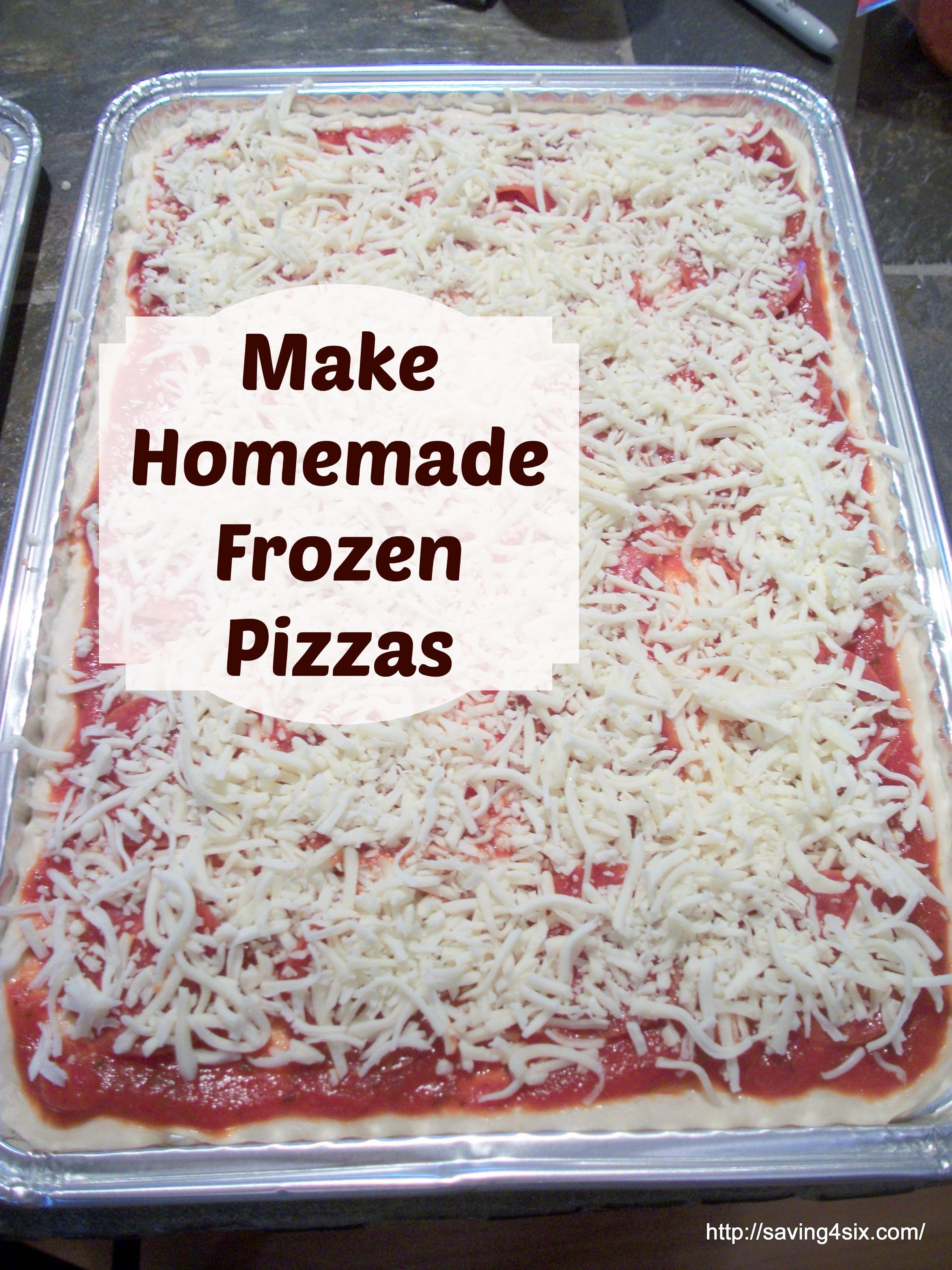 How To Make A Frozen Pizza Homemade Frozen Pizzajpg