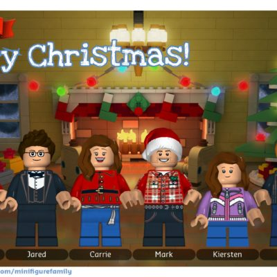 LEGO Minifigure Family Holiday Greeting