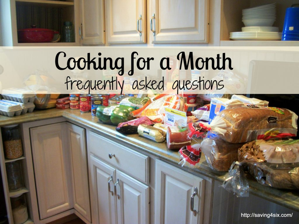 Cooking for a Month FAQ