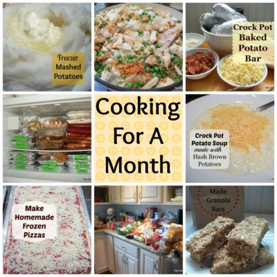 Cooking for a Month – 30 Meals