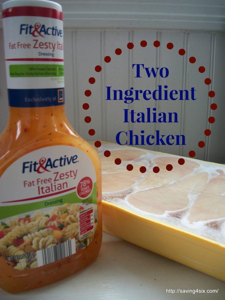 Two Ingredient Italian Chicken