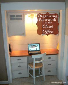 Organizing My Closet Office – Bills and Paper Work