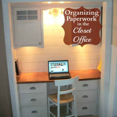 Organizing My Closet Office – Bills and Paper Work