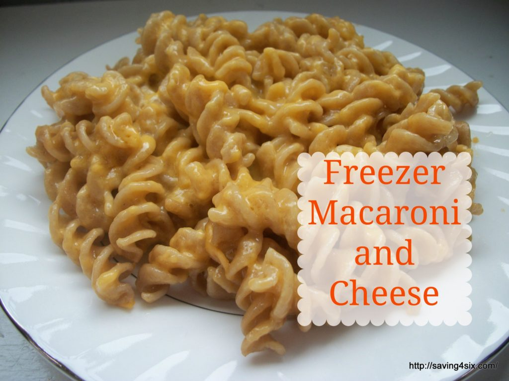 Freezer Macaroni and Cheese