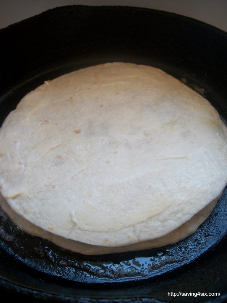 Frying a Quesadilla