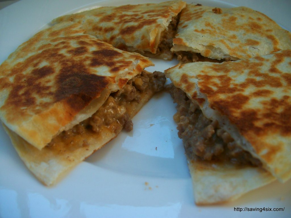Copycat Big Mac Quesadilla