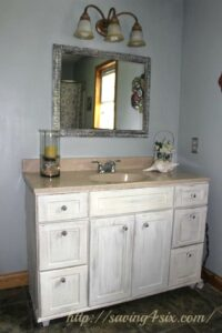 Bathroom Vanity Makeover with Annie Sloan Chalkpaint