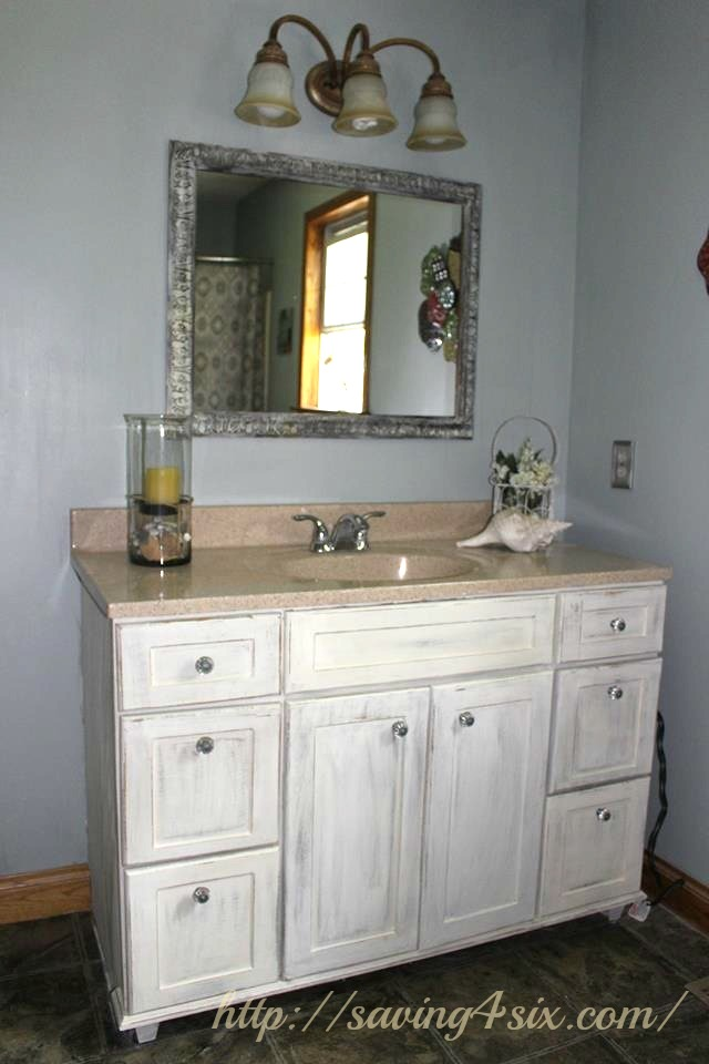 Model Painting Master Bathroom Vanity With Chalk Paint  All Things New