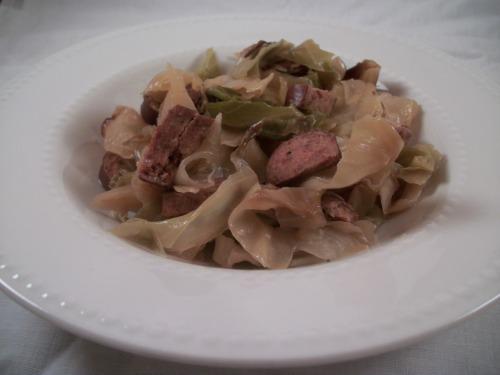 Crock Pot Cabbage and Sausage