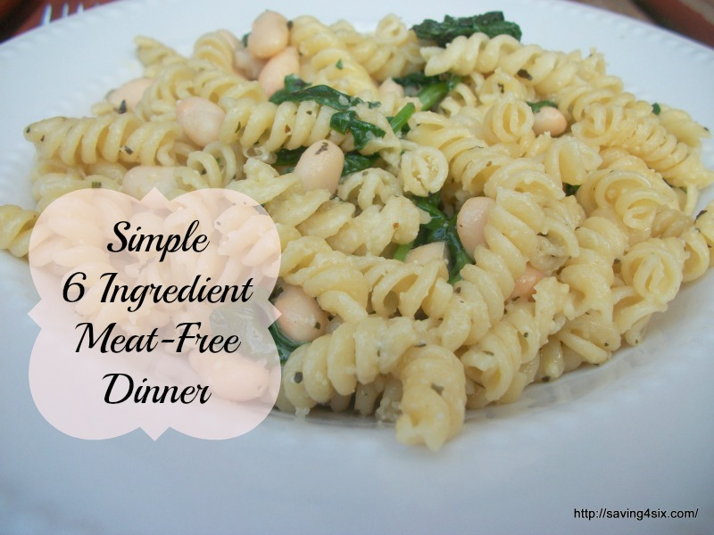 Simple 6 Ingredient Meat-Free Dinner