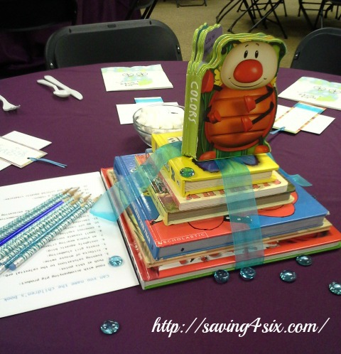 Story book shower centerpieces 1