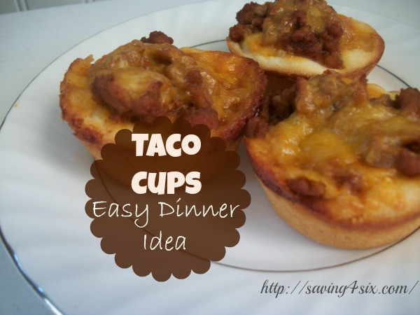Taco Cups Easy Dinner Idea
