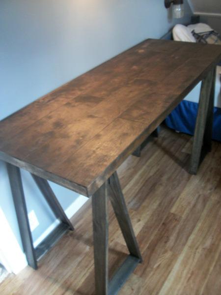 sawhorse desk 11