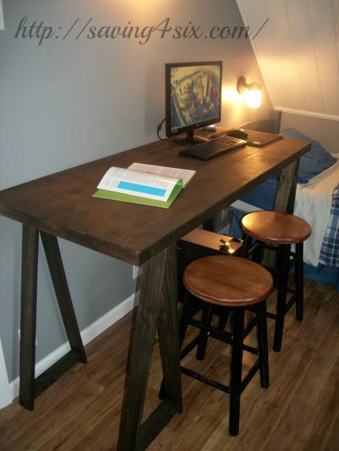 sawhorse desk 13