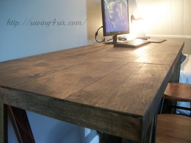 sawhorse desk 14