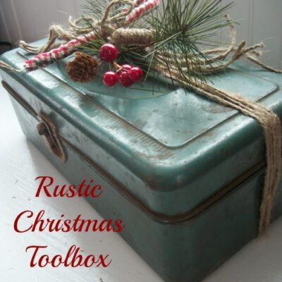 Christmas Decorated Tool Box