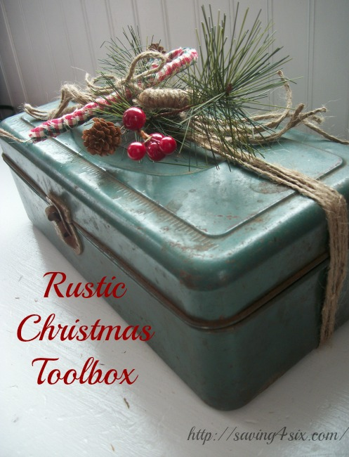 Rustic Christmas Toolbox