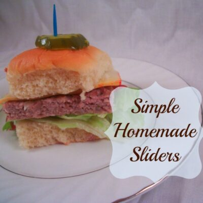 Simple Homemade Sliders