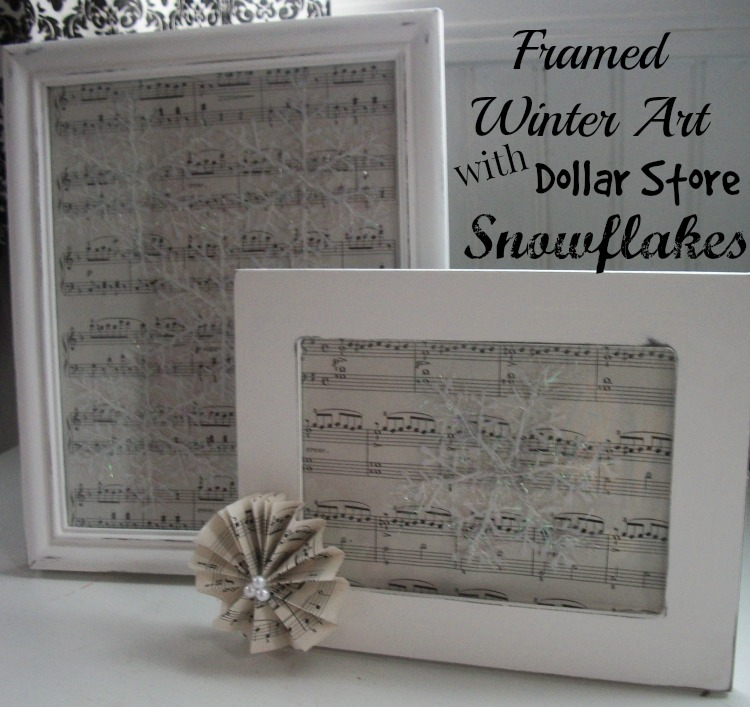 Framed Winter Art Dollar Store