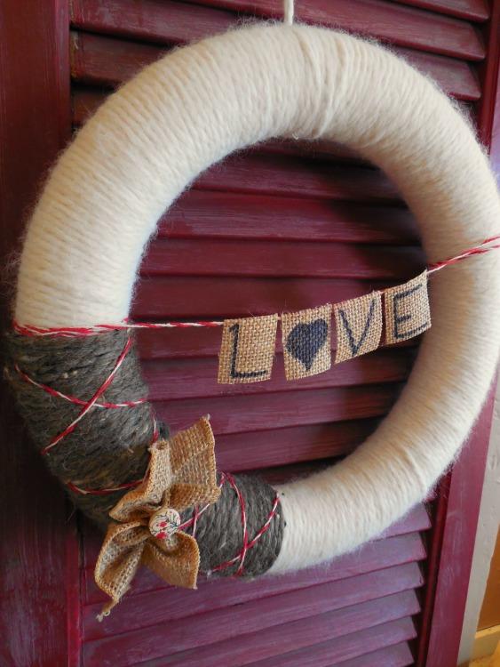 Yarn Covered Wreath 2