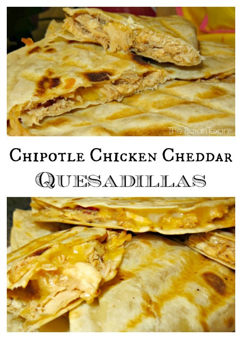 chipotle chicken cheddar quesadillas recipe