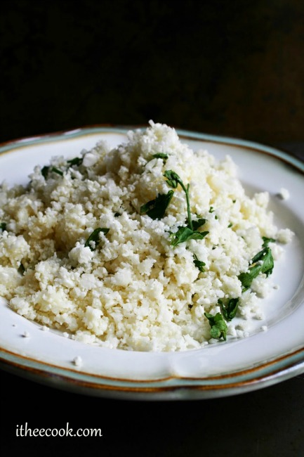 Simple Herbed Cauliflower Rice 1