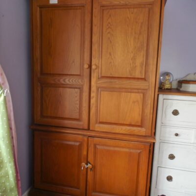 TV Cabinet Turned Wardrobe