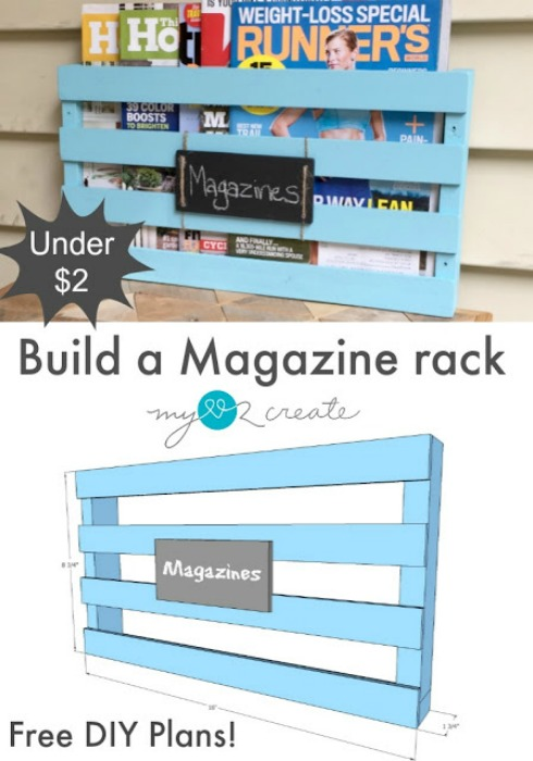 Build a Magazine Rack, MyLove2Create