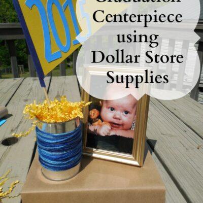 Graduation Centerpiece with Dollar Store Supplies