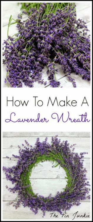 How to make a lavender wreath 2