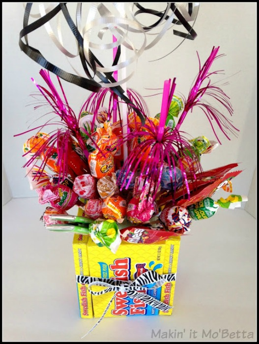 candy bouquet close up