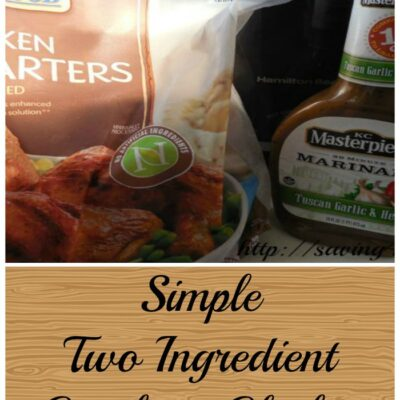 Simple Two Ingredient Crock Pot Chicken
