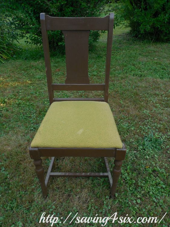 Spray Painted Chair 1